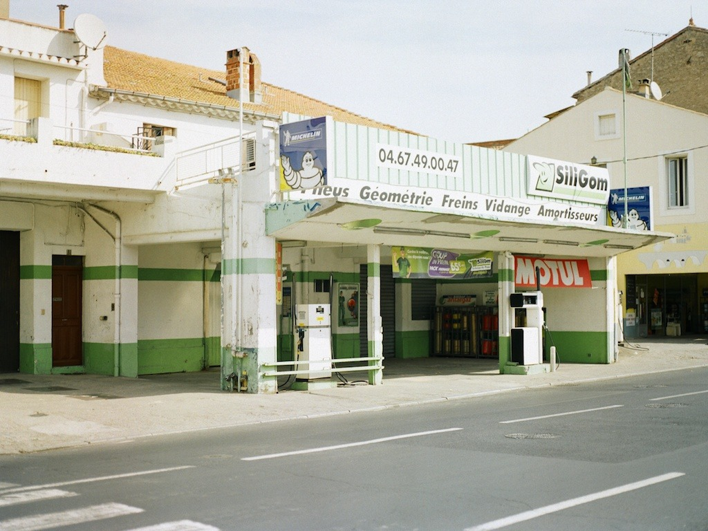 Gas station, Béziers, France.