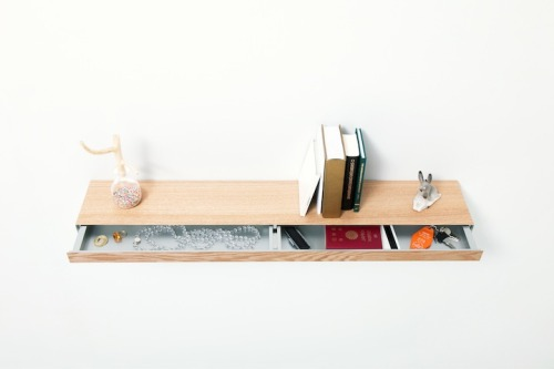 texturism: oh. clopen - a floating shelf  by japanese studio torafu architects | via ignant
