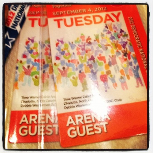 My night just got really exciting. #!!!!!!!! #dnc2012  (Taken with Instagram)