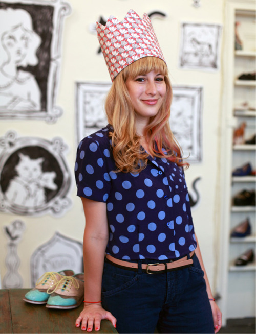 rachelantonoff:  luckymag:  Rachel Antonoff, one of our designers to watch. shot by Justin Chung  Thanks Lucky!