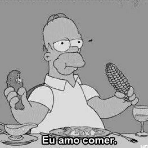 i #love eat ! #me #cool #truestory #homer #eat #like #instagram #instagood #homersimpson  (Publicado com o Instagram)
