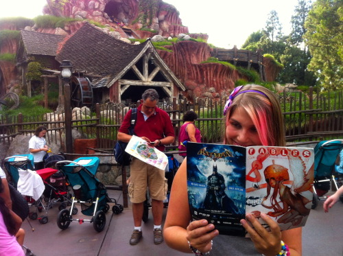 Reading Fables at Disneyland