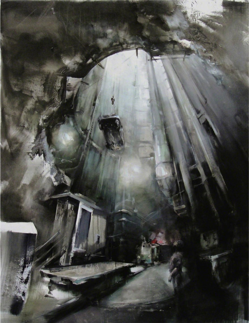 Zsolt Bodoni. South of Heaven, 2010. Oil and acrylic on canvas, 220 X 170 cm.   http://en.wikipedia.org/wiki/Zsolt_Bodoni http://nicodimgallery.com/artists/zsolt-bodoni/
