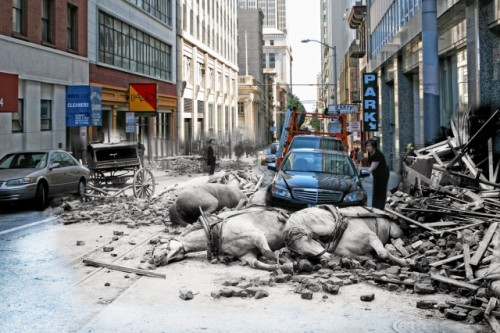 (via Composite Photographs Blend Scenes from the 1906 San Francisco Earthquake and Present Day | Colossal)