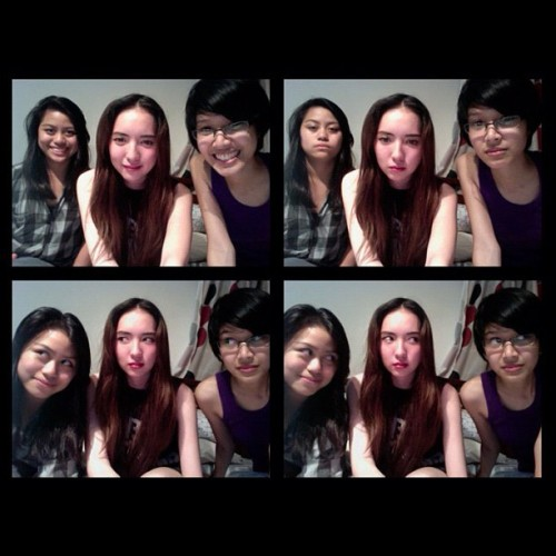 I miss sleepovers in @spamkitty 's. @arabantug (Taken with Instagram)