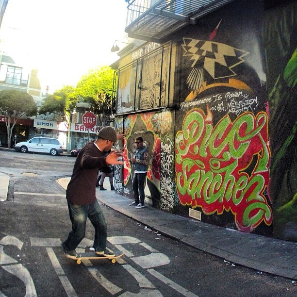 #skateordie #clarionalley #sanfrancisco #graffiti  (Taken with Instagram)