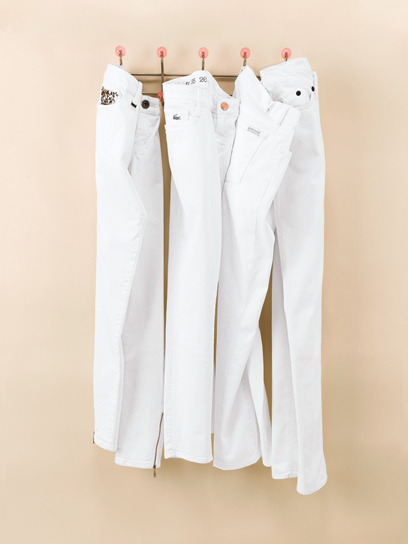 "So it's the day after Labor Day…which means you can kiss white jeans and the like good-bye. But until when? And WHY?  I've always been quite baffled by this fashion ""don't"" and am looking to Google for answers. So here's what I found: White is a cool color to wear that was practical for the hotter months and was perceived as unfashionable to wear after Labor Day, which was established in 1894 and since then has been considered taboo but not for any particular reason other than that darker colors were meant for Fall. Coco Chanel, a trendsetter from the start, was never a proponent of the theory and wore white year-round. However, according to the purists, the rule extends to Memorial Day, where finally you'd be able to don your whites, jeans or shoes. I'm not totally sure how I feel about this…I can't imagine not being able to wear white tops throughout the year…Do you think this applies in modern times? Do you still wear white after Labor Day?"