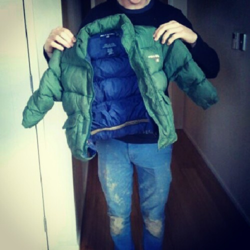 @thinkharry puffer jacket from when he was 10! Fashionable little thing he was (Taken with Instagram)