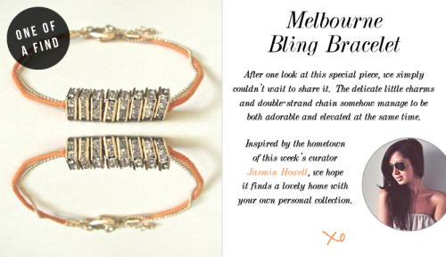 ONE OF A FIND — Melbourne Bling Bracelet Shop this style here:  http://stylesta.lk/OVKwHm