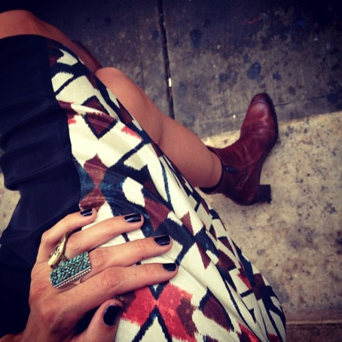 Fall nails, fall prints, fall feets #nyfw pre parties call for full force fashions (Taken with Instagram)
