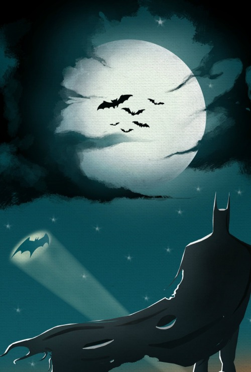 Just another night for the defender of justice. Batman, by Ahmed Taekar.  Always needed.