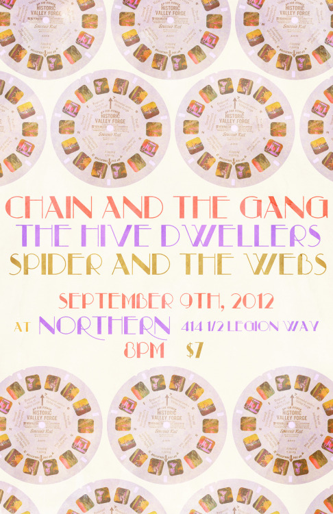 CHAIN & THE GANG IN THE PNW! 9/6 - Seattle, WA @ Chop Suey w/Jonathan Toubin SOUL CLAP 9/7 - Bellingham, WA @The Shakedown w/Bright Weapons, Slacks 9/8 - Vancouver, BC @The Waldorf w/Mecca Normal & Channels 3 x 4 9/9 - Olympia, WA @The Northern w/Hive Dwellers, Spider and The Webs.