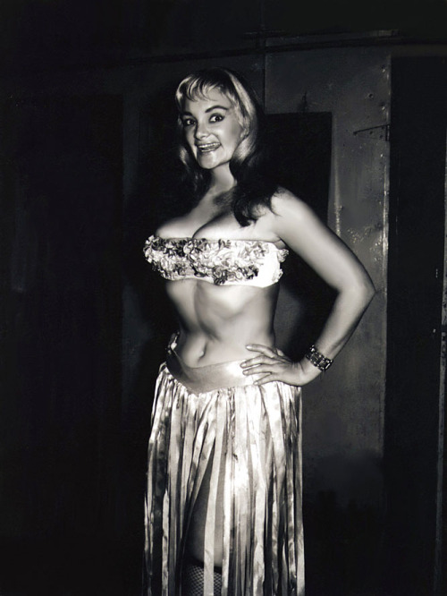 burleskateer:   Irma The Body Candid backstage photo from the 1950's, scanned from my personal collection.. More pics of Irma can be found here..