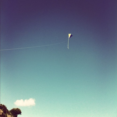 #kite #sky #clouds #summer #beach #blue #uk  (Taken with Instagram)