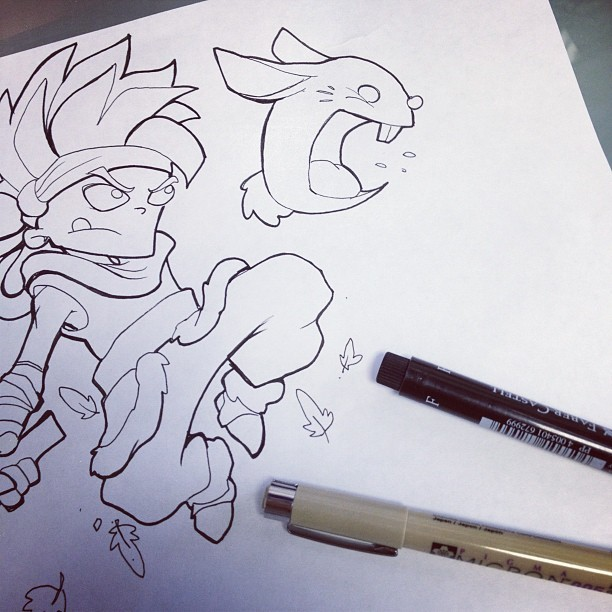 ……Secret of Mana sketch or later this week. (Taken with Instagram at Pain & Wonder Tattoo)