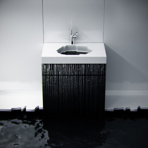 Antarctic inspired ice shaped and sculptured bathroom sink by KO Architects  [via: industrialdesignserved] Via: inspirezme
