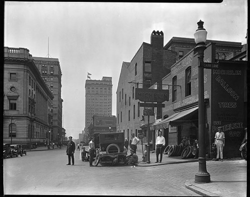 mdhsphotographs:  Tire Sales CompanySt. Paul Street, BaltimoreJuly 1925Hughes Company8 x 10 inch film negativeBaltimore City Life Museum CollectionMaryland Historical SocietyMC6110