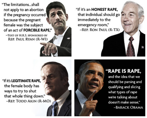 """Rape is rape"", OBAMA, Barack."