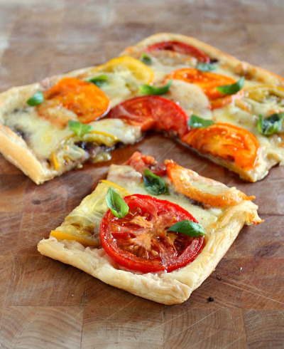 Tomato Mozzarella Tart with recipe (link)