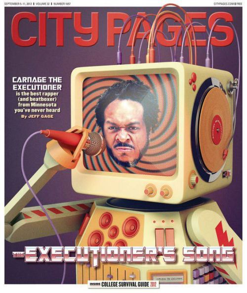 villarosamuisc:  Carnage the Executioner on City Pages cover. Click