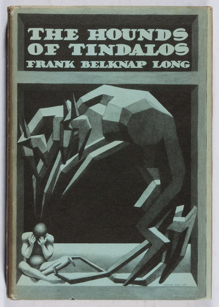 50watts:  Hannes Bok cover for Frank Belknap Long, The Hounds of Tindalos. Arkham House, 1946 (expired auction listing).