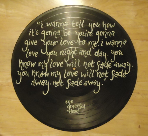 valderieoriginals:  Custom ordered Grateful Dead lyric record
