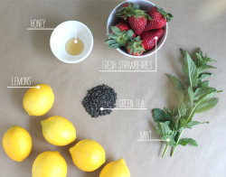 fit-to-row:  Green Tea Strawberry Lemonade Smoothie