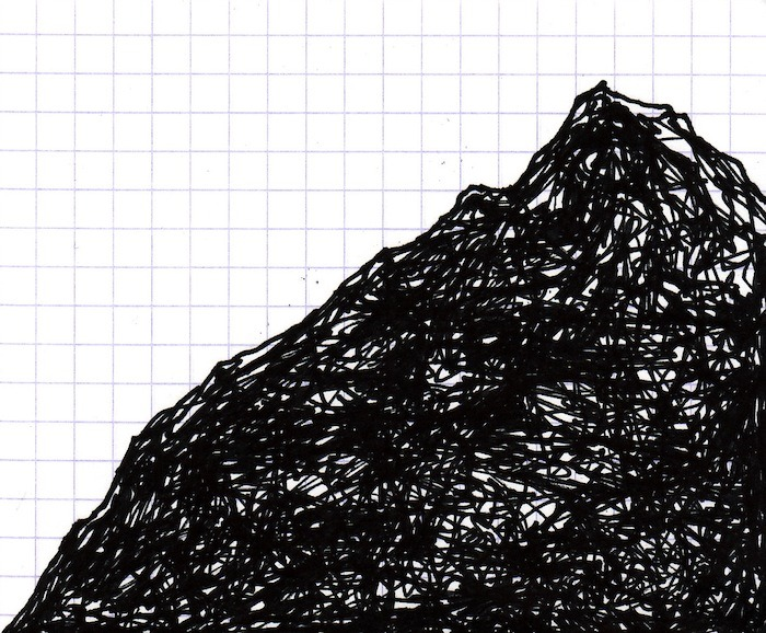 PEAK 1. 2012 drawing by Topher Mileski
