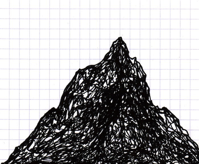 PEAK 2. 2012 drawing by Topher Mileski