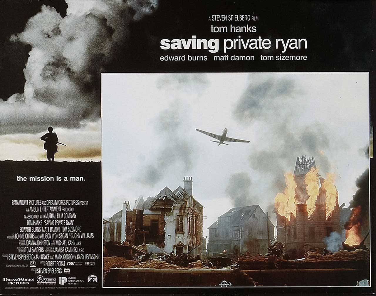 Saving Private Ryan, British lobby (front of the house) card. 1998