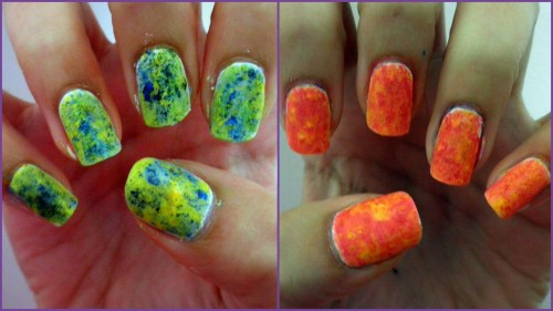 i did these with chalk pastels! click for tutorial!