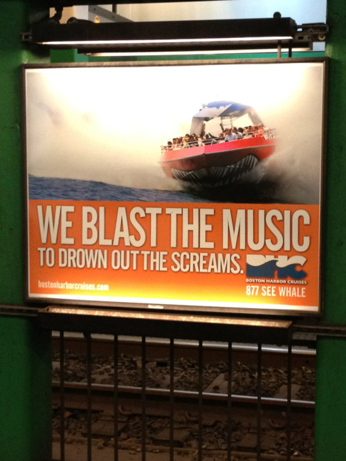 Are you threatening me, Boston harbor cruises?