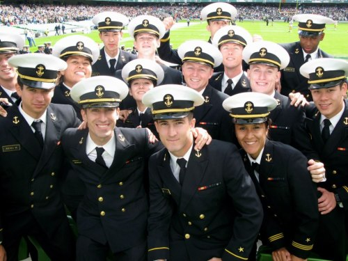 navykary:  United States Navy - A group of sailors at the Emerald Isle Game (Notre Dame vs. US Navy) at Aviva Stadium 9/1/12