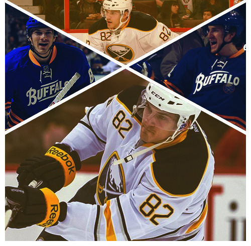 rocktheredblueandgold:                           Marcus Foligno :: Buffalo Sabres(Requested by thephantomennis) Other players here                            LOVE IT AGAIN!