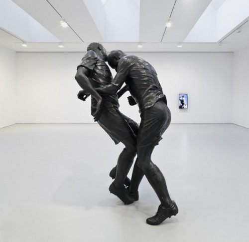 "New sculpture: ""Zidane Headbutts Materazzi"" by David Zwirner"