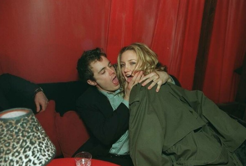 Casey Affleck and Kate Hudson probably fairly late in the night at the 1999 200 Cigarettes after party.