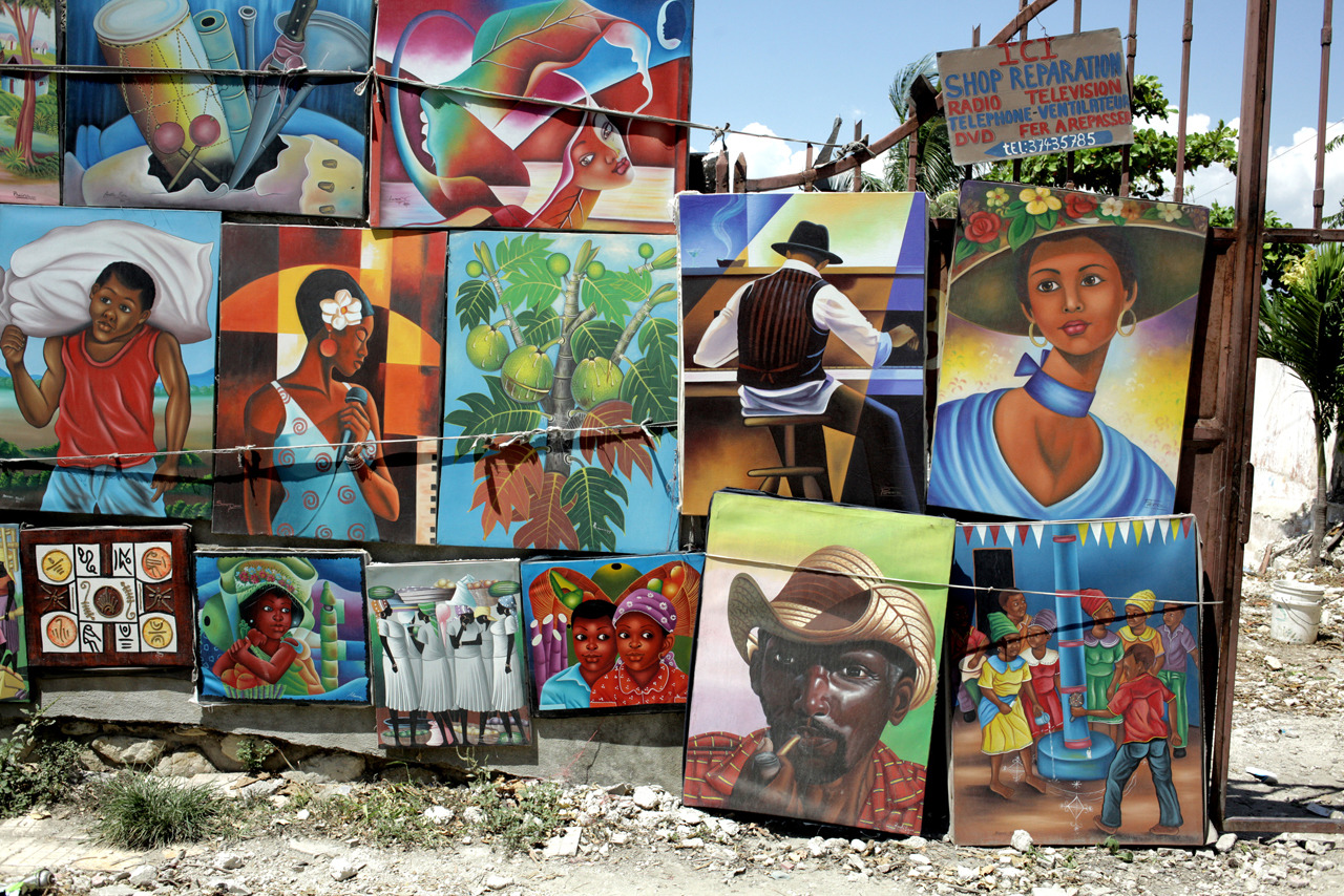 joshmoise:  Art vendor in Port Au Prince, August 2012.