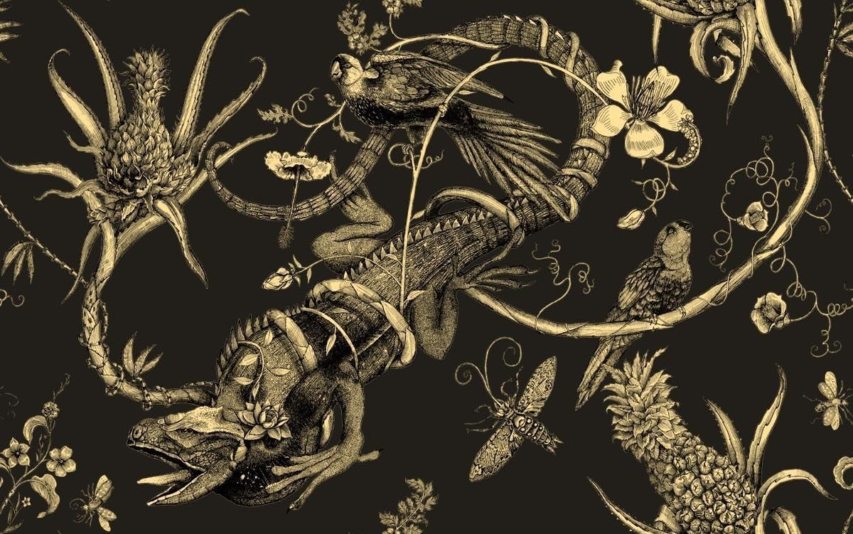 missdelite:  'Iguana' wallpaper by Timorous Beasties | About