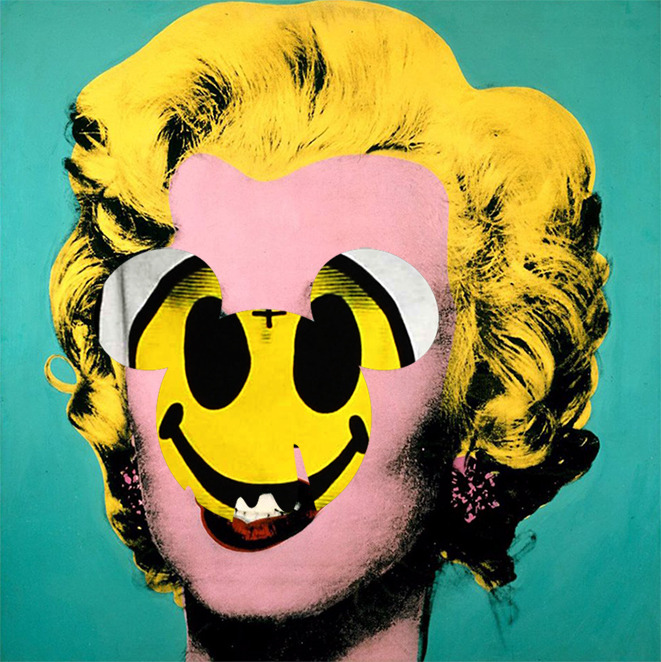 Ivan Crush, Smile Marilyn, print on archival photo paper, 2012