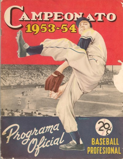 cubabeisbol:  Cover of the official program of the 1953-54 Cuban League season.