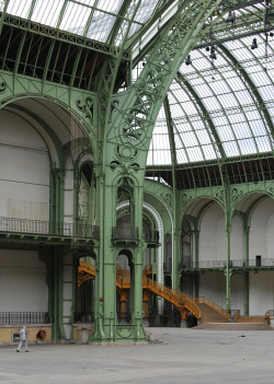 Inside the Grand Palais, Paris.   It was quite an experience to see the inside of this majestic Beaux-Arts palace in a moment when it was almost completely vacant. To imagine it transformed in so many seasons past, and again for many seasons to come, was breathtaking. This place was more than just a historic landmark in Paris, but a building frequented by countless fashion industry legends, and where fashion history continues to be made.