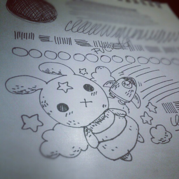 Night doodling… (Taken with Instagram)