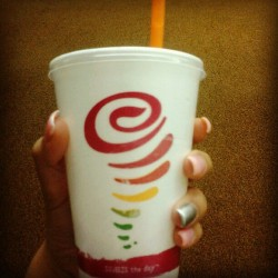 Kinda liking this back to school night #JambaJuice #StrawberryBanana #latepost  (Taken with Instagram)