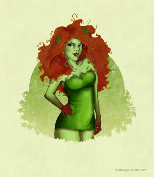 Poison Ivy pin up:  This is my first piece I've inked and colored digitally. Needless to say, I'm still trying to figure things out a bit.  I drew this specifically for my friend MrWoller 's birthday.