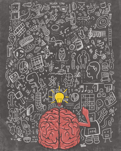 - My Brain Won't Stop -  Up for scoring on Threadless…please score to help get Printed on T-shirt or Reblog this….Thanks