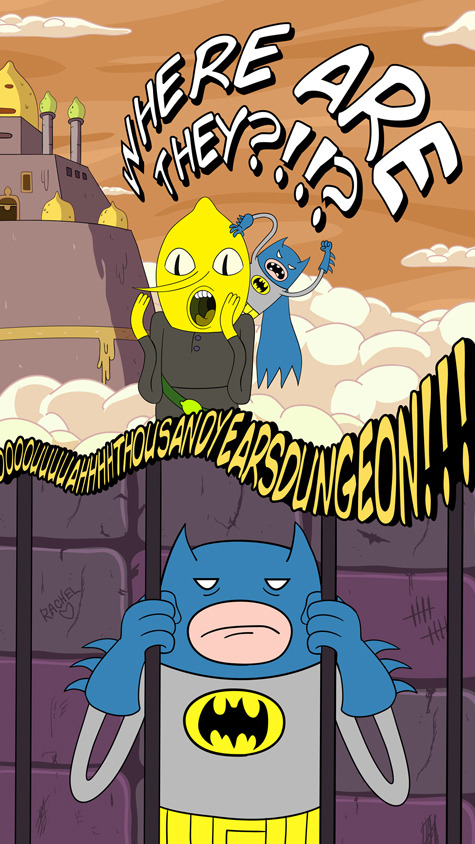 Too Loud Mini-Batman's Adventure Time Adventures - Part Five Is this the end of mini Adventure Time Batman?? Yes. For now. Maybe.