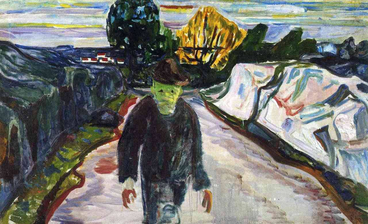 Edvard Munch (1863 - 1944) The Murderer 1910