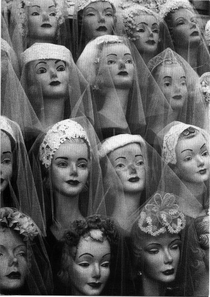 Mannequin heads Date and photographer unknown