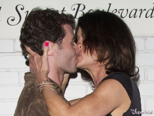 (source) Janice Dickinson is trying to have face sex with James Deen and it is really gross. But! The good thing here is that if he's letting that wrinkly Snorlax rub her mouth all over him like that, he'll totally be down when I try to do it.