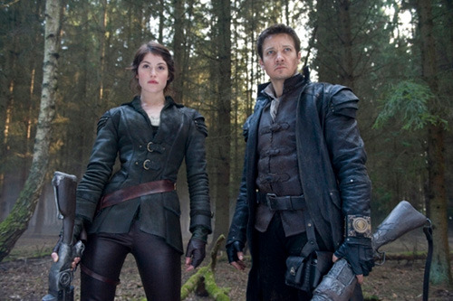 "totalfilm:  First trailer for Hansel And Gretel: Witch Hunters: watch now The first trailer has gone online for Hansel And Gretel: Witch Hunters, in which Jeremy Renner and Gemma Arterton play the fairytale double-act as a pair of grown-up badasses with ""a taste for blood… witch blood.""  I don't care how good or bad this movie can be, I'll be there."